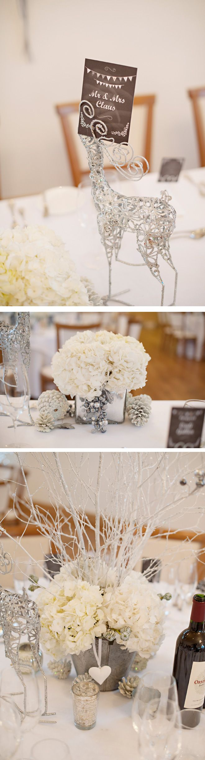 Christmas weddings are double the fun. Festive spirit meets the happiest day of your life creating a magnified sense of togetherness and celebration. The abundance of lovely decorations makes a Christmas wedding theme one of the easiest to pull off, whatever your budget. Here are just a few of ideas.