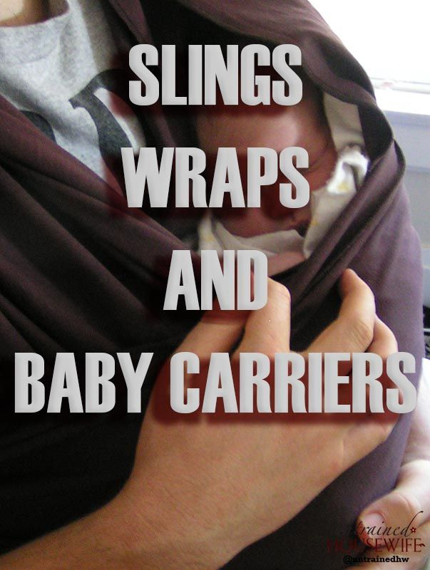 Babywearing is back in a huge way, and if you have basic sewing skills you can whip up a huge variety of mei tais, ring slings and other carriers. It's worth trying a few different kinds of carrier to see what suits you and your baby.