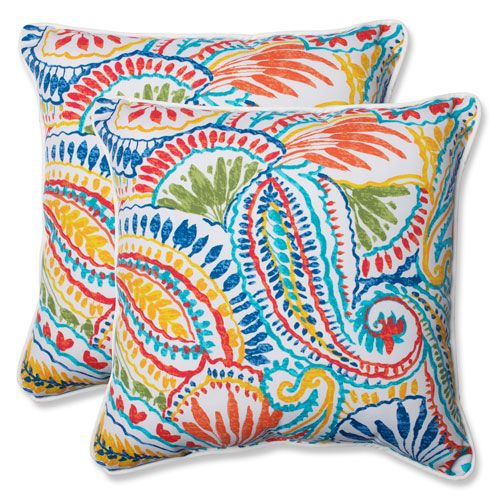 Ummi Multicolor 18.5 Inch Outdoor Throw Pillow, Set Of 2