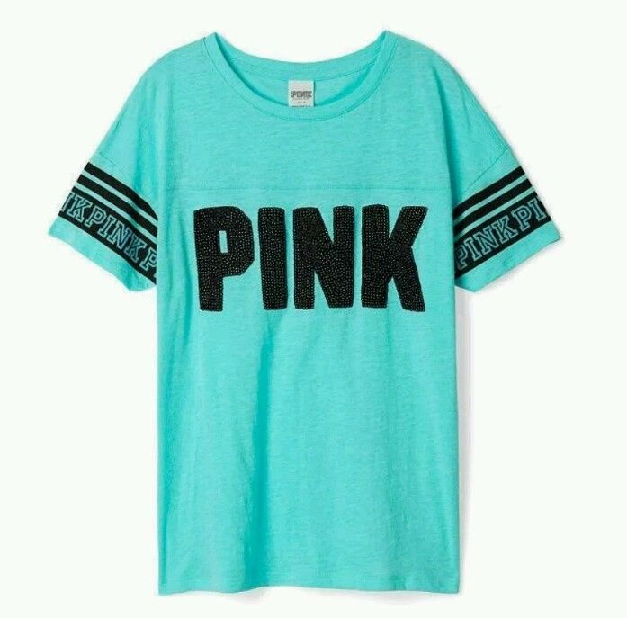 Victoria's Secret PINK Boyfriend V-Neck Tee Light Blue ($46 ...