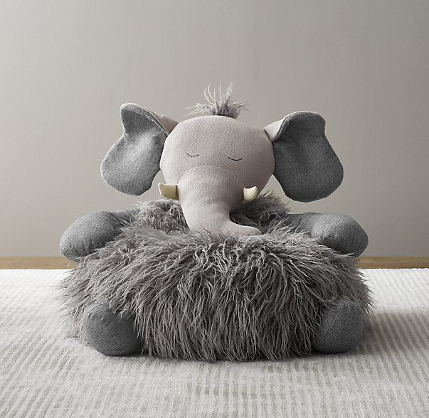 RH Baby U0026 Child / Wooly Plush Elephant Chair