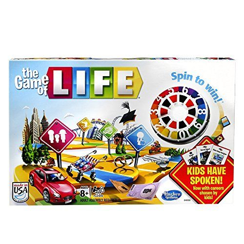 Product Description: Do you have what it takes to win The Game of Life game? You do it by choosing the life you want! Go to college, take the family path, have kids, or see what happens when unexpected twists change the game. Will you receive a fortune and lose it as quickly as you got it? Will you need a bank loan to pay a debt? Once everyone reaches the end of the game at retirement, everyone pays their debts and adds up their wealth. The player with the most money wins the game, so make…