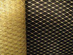 9 inch Netting - Metallic Gold