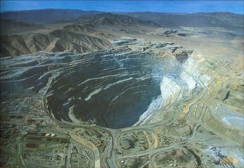 Chuquicamata Copper Mine – Chile  http://intradayfun.com/2011/01/10-world-biggest-holes-created-by-human-and-nature/