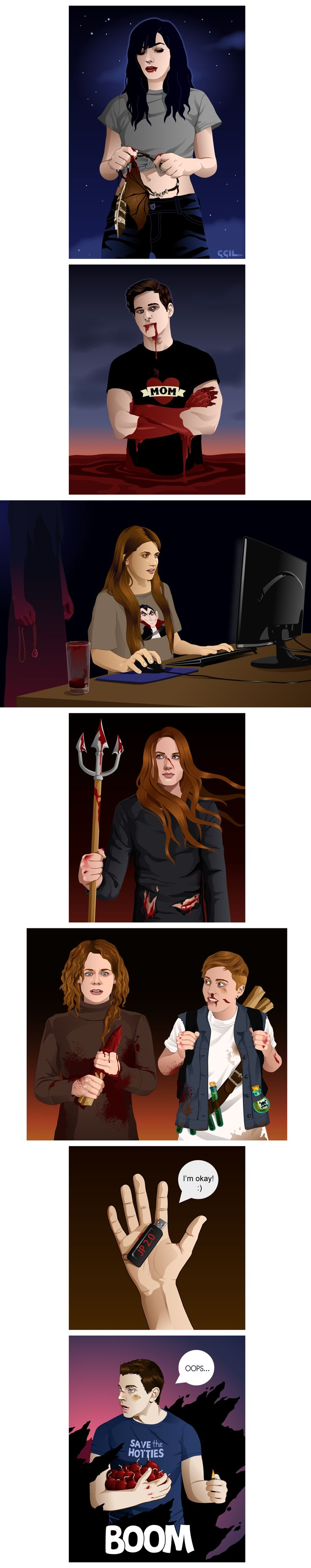 This is cool. :) Will's is a little freaky. And the Dean lurking behind Laura with the possession necklace is super creepy.