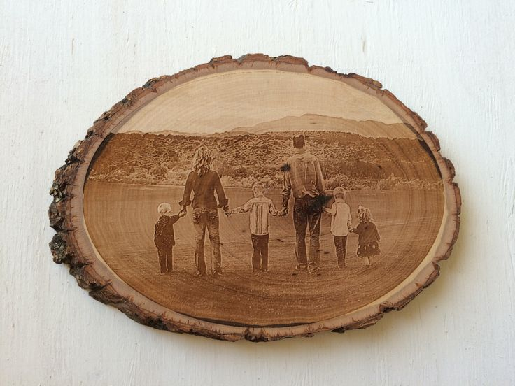 Engraved Photo - Photo Engraving - Wood Tree Slice - Photo Gifts - Wooden Tree Slice by SweenksCustomLaser on Etsy https://www.etsy.com/listing/272905312/engraved-photo-photo-engraving-wood-tree