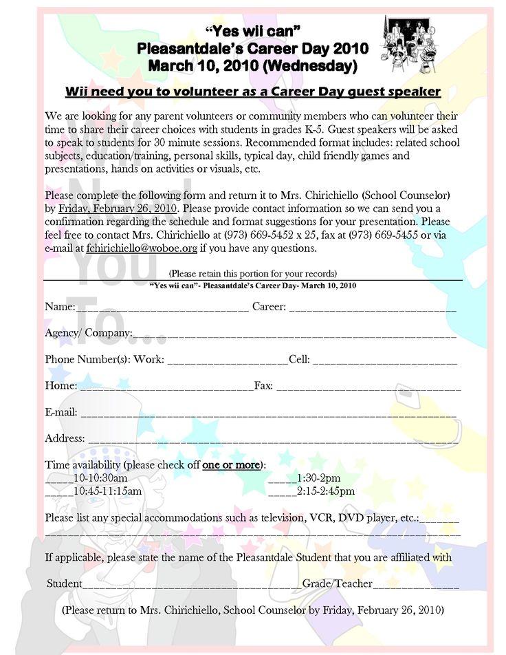 career day invitation career day invite sample letters