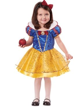 Deluxe Snow White Toddlers Costume
