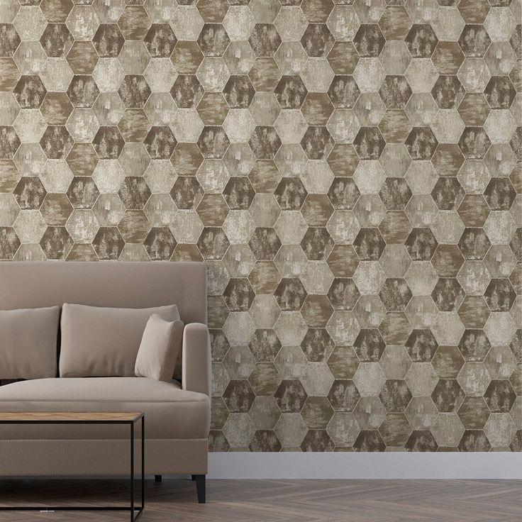 9 best papier peint effet carreaux de ciment images on pinterest beautiful gardens coins and. Black Bedroom Furniture Sets. Home Design Ideas
