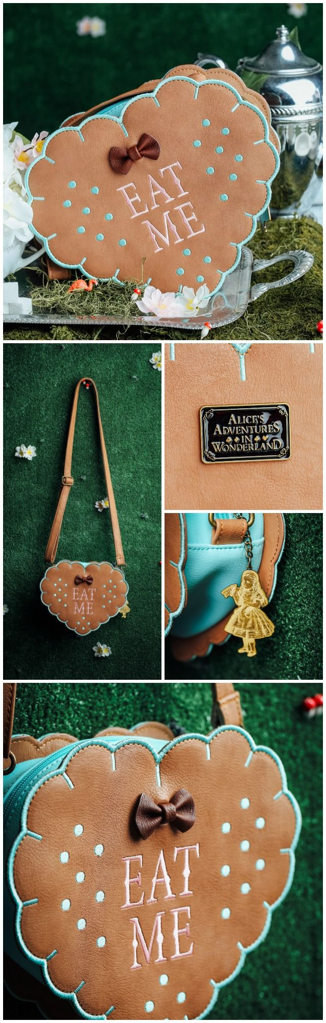 Exclusive Loungefly Alice in Wonderland purse - an Eat Me cookie bag has never looked so sweet. This is available for pre-order now, so be sure to gobble it up before they're all claimed! #kawaii