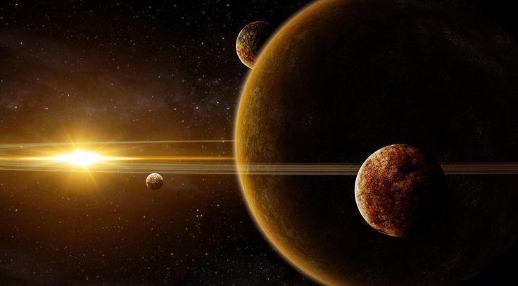 Галактика, планеты, свет, звезды, лучи обои, картинки, фото