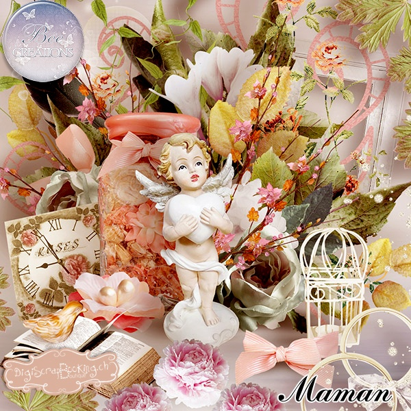 *** NEW ***  Maman by Bee  http://www.digiscrapbooking.ch/shop/index.php?main_page=product_info=22_43_id=11172