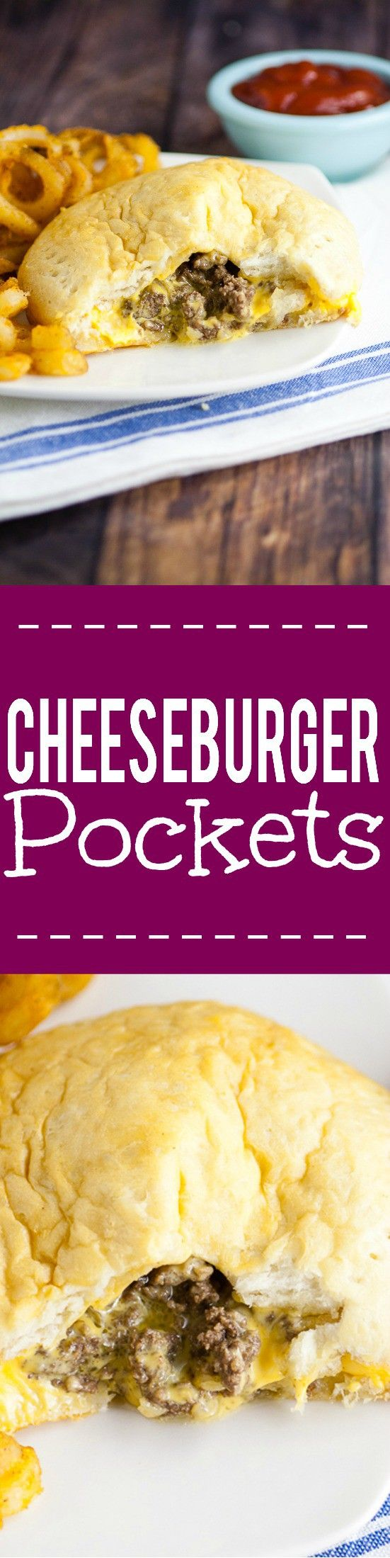 Cheesburger Pockets Recipe - Made in just 30 minutes with 5 ingredients…