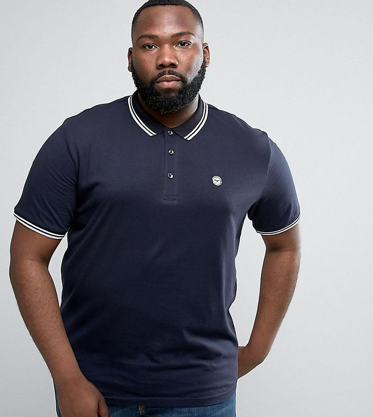Le Breve PLUS Tipping Slim Fit Polo Shirt - Navy