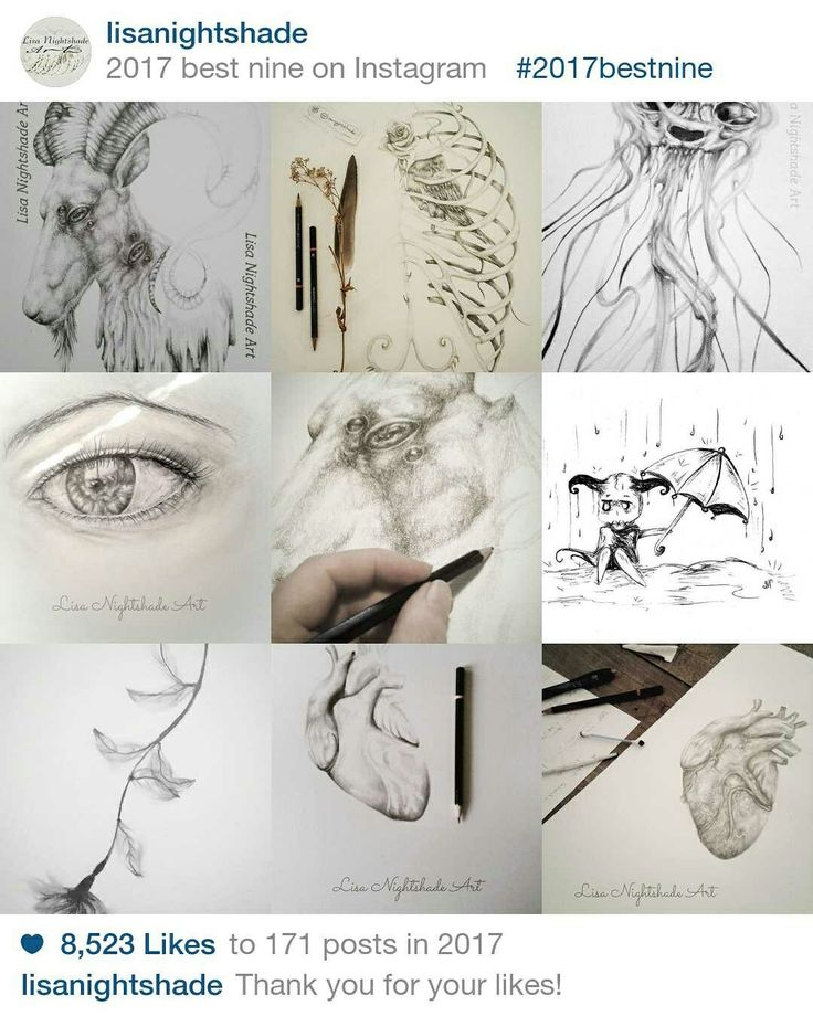 Creating art every day is the most rewarding experience for me: from the largest painting with intricate planning right down to the tiniest scratch of a sketch. I feel truly blessed to have fellow artists, admirers and cosmic travellers with me on this artistic journey. Thank you for your endless inspiration and all-round awesomeness. #2017bestnine
