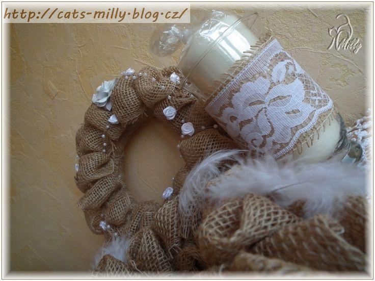 burlap, lace, feathers