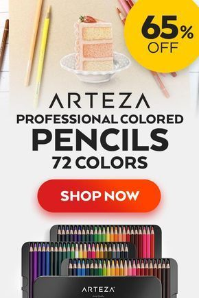 Get These Amazing Professional Watercolor Pencils By Arteza At 65