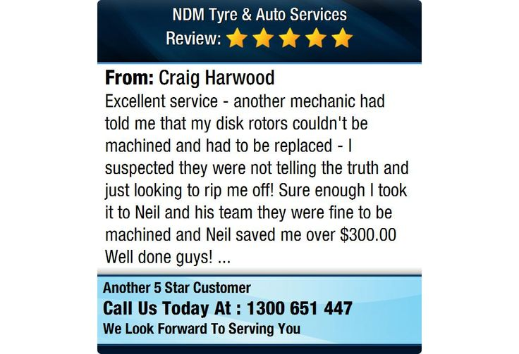 Excellent service - another mechanic had told me that my disk rotors couldn't be machined...