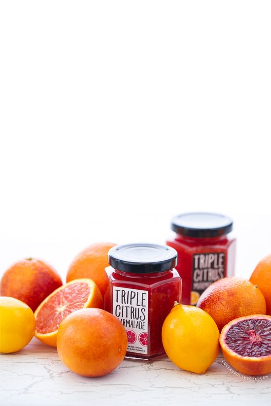 A little sunshine on a winter's day: Triple Citrus Marmalade made with Meyer Lemons, Cara Cara and Blood Oranges