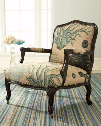 Sea Coral Print Fabric At Lewis And Sheron Textile