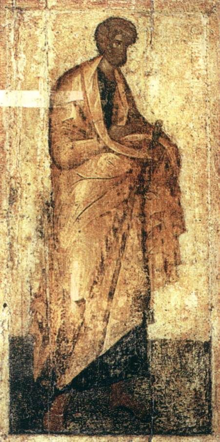 Theophanes the Greek, Icon from the Deësis Tier c. 1399 Egg tempera on wood, height 210 cm Cathedral of the Annunciation, Kremlin, Moscow