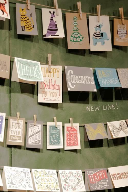 Kaarten ophangen van gekregen enveloppen