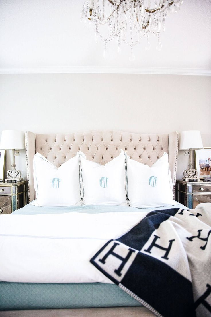 fashion blogger maria vizuete of mia mia mine master bedroom restoration hardware hotel bedding and a z gallerie tufted jameson bed