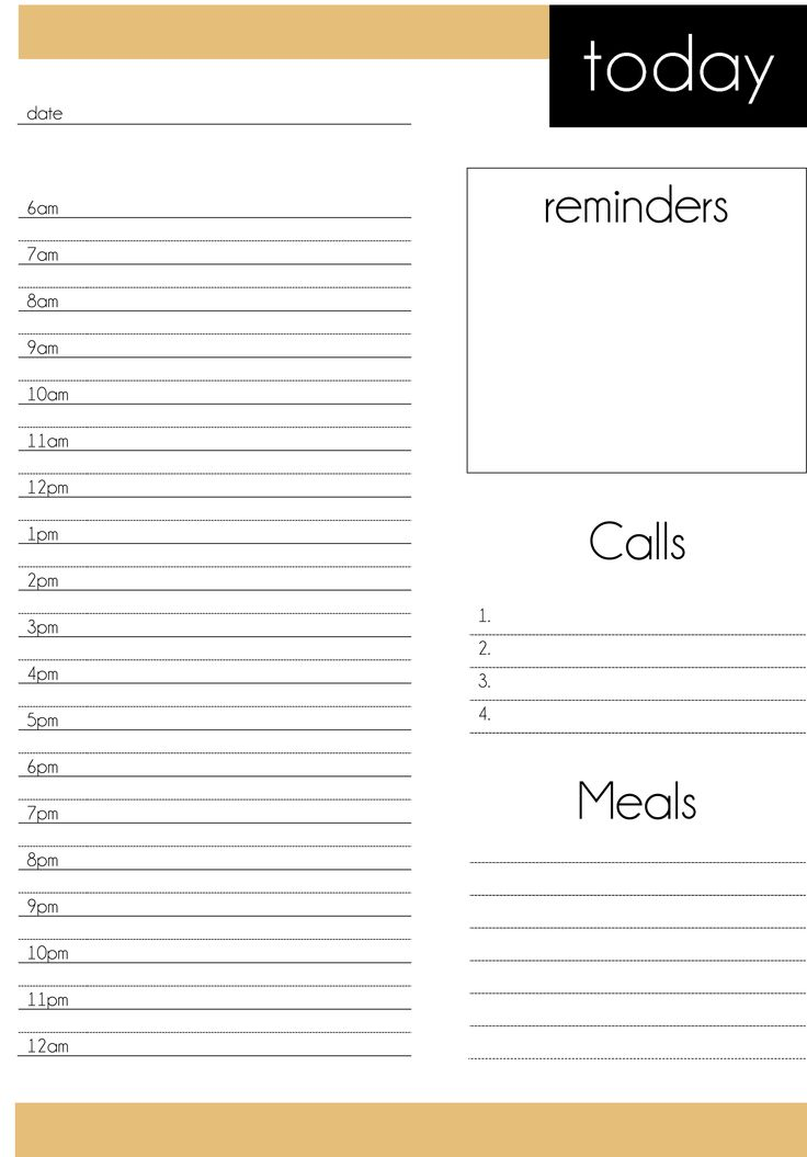 45 Best Чек лист Images On Pinterest Draping, Planners And   Blank Daily  Planner Template  Daily Planning Template