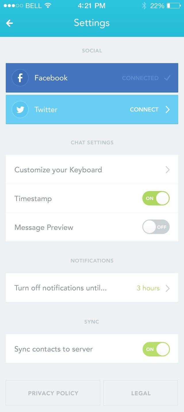 Dribbble social app ui design jpg by ramotion - Dribbble App_settings_2 Jpg By Daniela Alves Mobile Applicationui Inspirationmobile Design