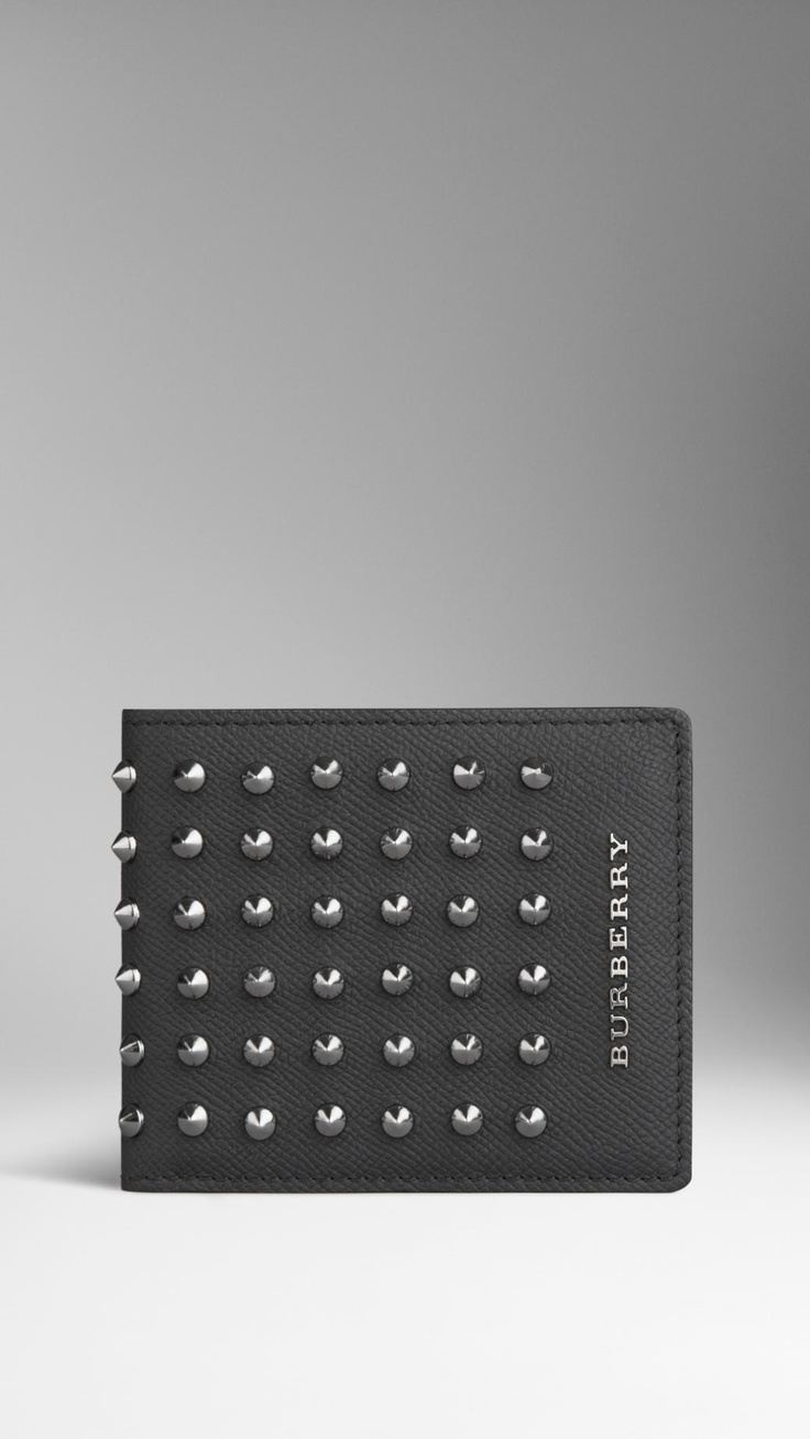 Studded London Leather ID Wallet | Burberry