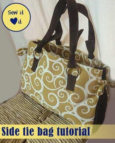 Side tie bag tutorial - Handbag sewing patterns