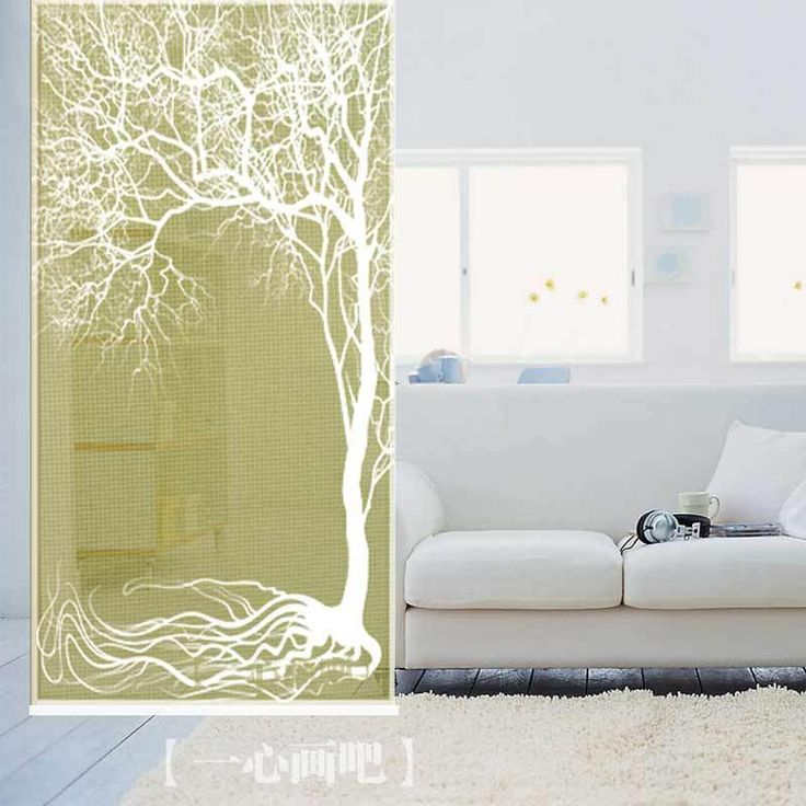 Elegant  cm cm classical style tree print room roller shade hang screens dividers decoration