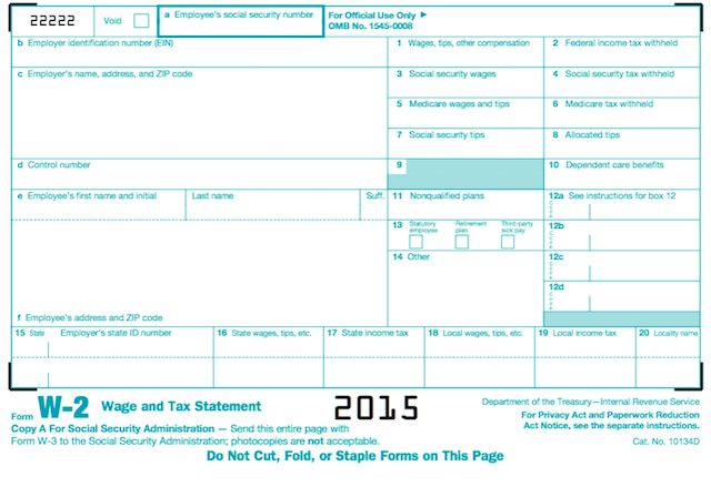 Form Irs W 2 2015 Form Irs W 2 2015 Pinterest