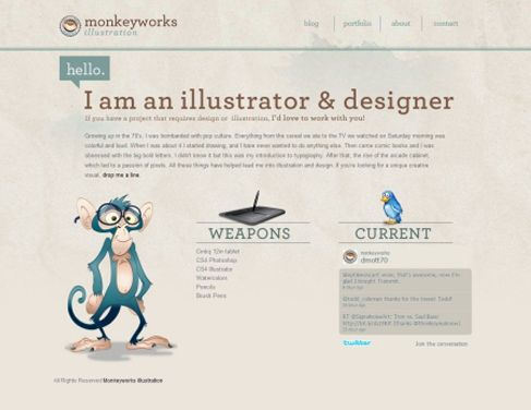 inspiring about me page