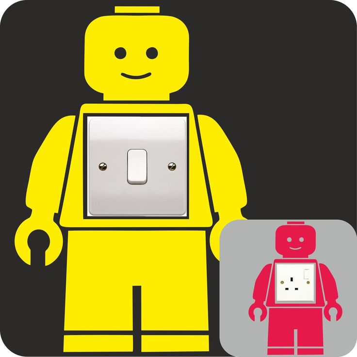 LEGO MAN vinyl decal LIGHT SWITCH PLUG SURROUND bedroom WALL sticker  ART QUOTE kids bedroom DECOR-in Wall Stickers from Home & Garden on Aliexpress.com   Alibaba Group