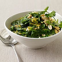 Weight Watchers South African Curried Spinach with Peanuts ~ Pts+ 2