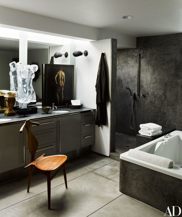 Masculine Master Baths: 2056 Best Celebrity Habitats Images On Pinterest