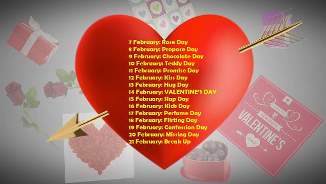 7 Feb To 21 Feb Days List February Special Days List Valentine