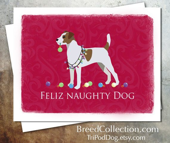 Parson Russell Terrier Dog Christmas Card from the Breed Collection - Digital Download