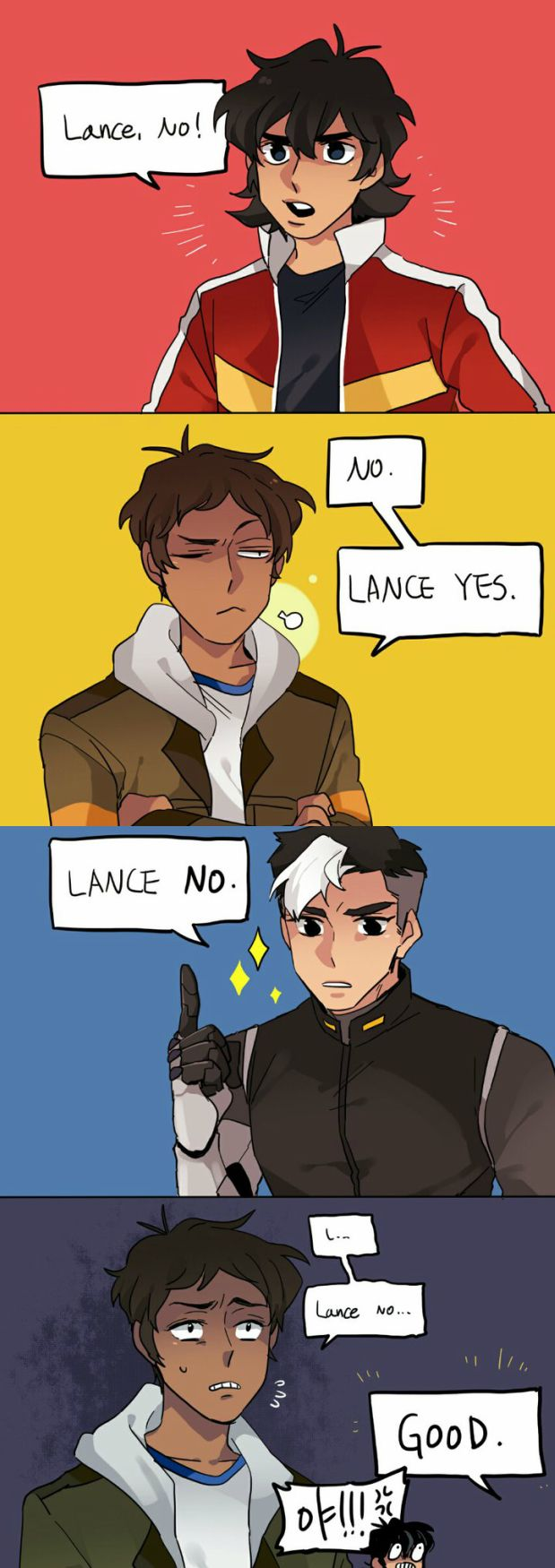 VLD fancomic - Keith / Lance | Shiro 'not even Lance can't refuse space dad!'