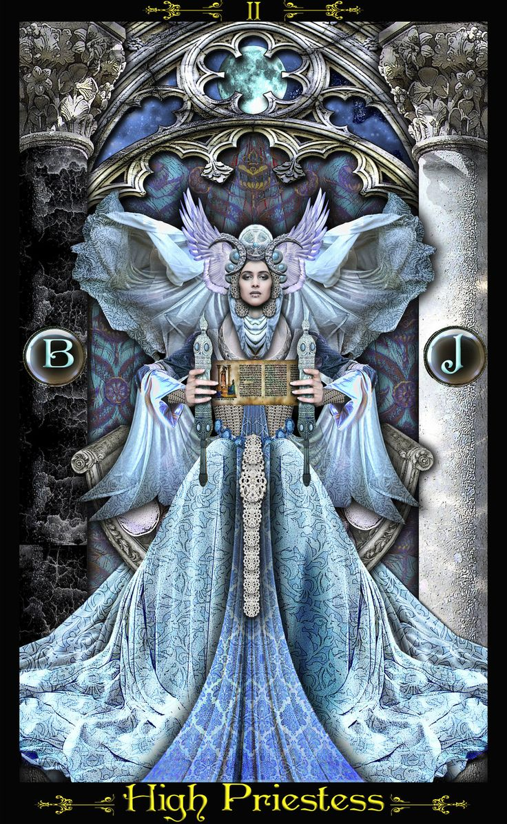 Illuminati deck. This deck is much more striking and beautiful in person than any picture shows.  High Priestess