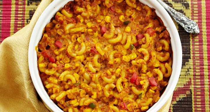 "Macaroni and ""cheese"" gets a kick with corn, peppers, black beans, and spices. From Forks Over Knives – The Cookbook Instructions: Preheat the oven to 350° F. Place the onion and red pepper in a large saucepan and sauté over...  Read more"