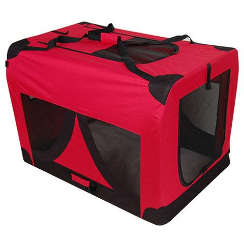 Extra Large Portable Soft Pet Dog Crate Cage Kennel Red - Signum Deals - Australia's Bargain Warehouse - 1