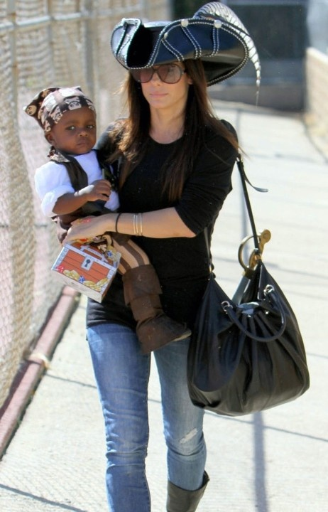 Sandra Bullock with her son Louis. She just seems to be such a down to earth lady and is a great mom. I love her.