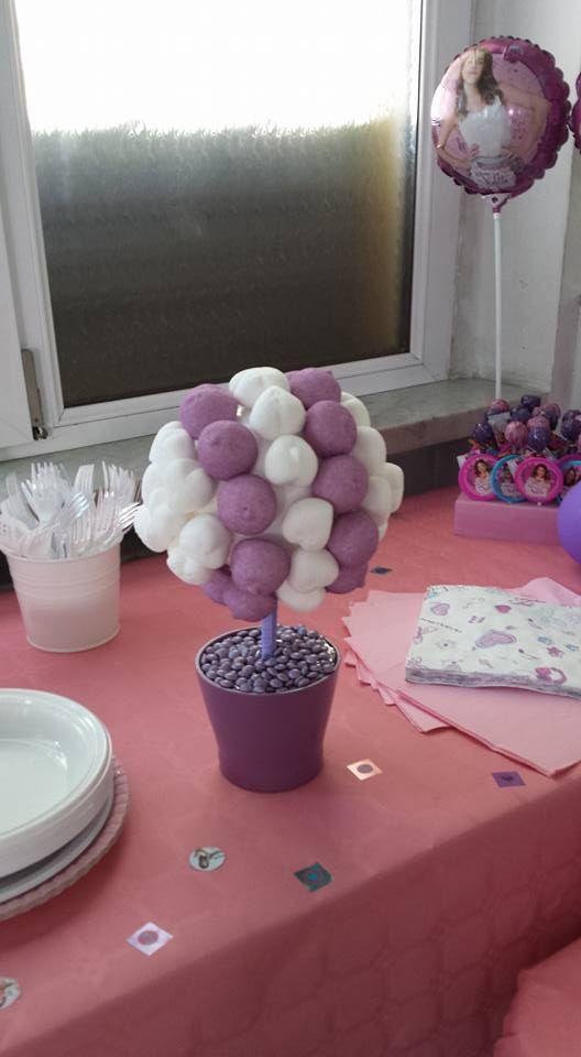 alberello caramelle festa a tema Violetta