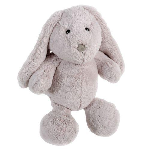 Peluche enfant lapin grise H 35 cm BUNNY