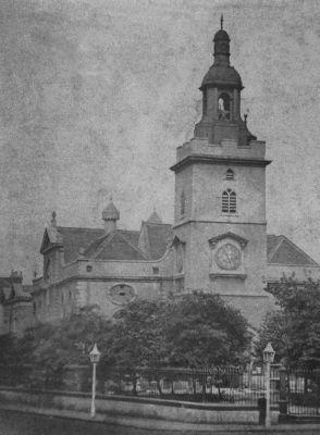 Whitechapel High Street 1870, St Marys Church Courtesy Tower Hamlets Local History Library