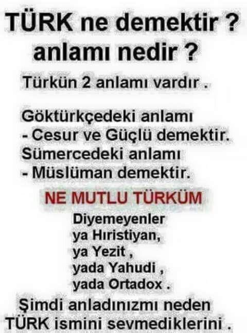Türk hayat demektir ,  kalite demektir yaşamayı ve kaliteyi  ne bilirr...