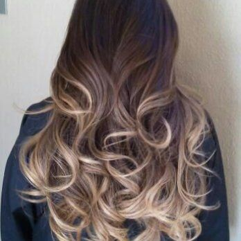 Black and ash blonde ombre