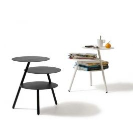 Pulpo Design Beistelltisch Trio Schwarz Weiß